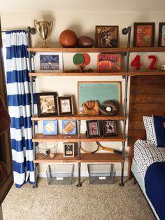 Vintage Sports Themed Bedroom - Lady's Little Loves