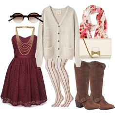 Boots and chunky sweaters