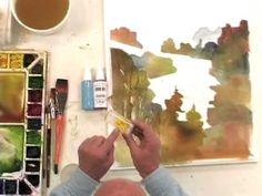 Watercolor Painting with Spray Bottle Effects, cheapjoes.com