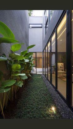 Home Garden Design, Interior Garden, Home Design, Home Interior Design, Home And Garden, Mansion Interior, Design Hotel, Urban Design, Courtyard Design