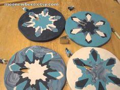 Polymer clay snowflake cane tutorial by MegNewberg on KatersAcres Blog