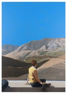 Available for sale from Galerie EIGEN + ART, Tim Eitel, Mountains Oil on canvas, 310 × 220 cm Weekender, Collage Techniques, Portraits, Museum Exhibition, Pictures To Paint, Figure Painting, Contemporary Paintings, Collage Art, Collages