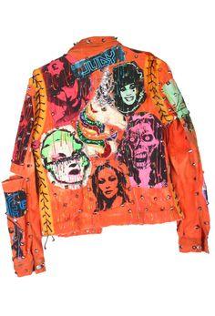 Tomtom Orange Unicorn Punk Jacket Eli Bishop  C B Punk Rock