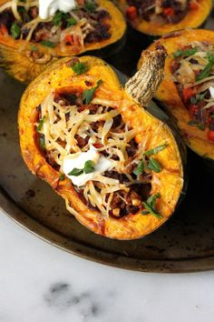 Spicy Cheeseburger Stew Stuffed Kobocha Squash