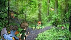 A hassle in the Pokémon Forest.