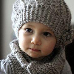 Knitting Patterns Yarn Cool Wool Hat and Cowl Set - Knit Hat Pattern Knitting For Kids, Free Knitting, Knitting Projects, Baby Knitting, Crochet Projects, Knitting For Beginners, Knitting Needles, Knitting Yarn, Knit Or Crochet