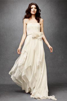 Cascading Goddess Gown from BHLDN Bhldn Wedding Dress, Pleated Wedding Dresses, Wedding Dresses For Sale, Wedding Bride, Tulle Wedding, Wedding Gowns, Bridesmaid Dresses, Wedding Ceremonies, Boho Bride