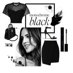 """""""BLACK BEAUTY"""" by arielalcantar on Polyvore featuring Miss Selfridge, Alexander Wang, Forever 21, Bliss, Gucci, Waterford and allblackoutfit"""