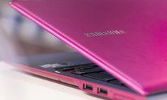 Näppärä Samsung-tietokone, pirtsakan pinkin värisenä. #pinkki #läppäri #expertfi