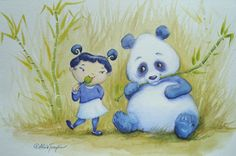 """Panda Pal Pleasantries"" Art Print by Alicia Templin 