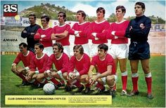 GIMNASTIC DE TARRAGONA 1971-72 (As color)
