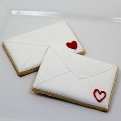 valentine envelope sugar cookies!