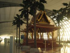 """at the Bangkok airport on the way home. a little """"Temple Space"""" House Design Photos, The Way Home, Bangkok, United Kingdom, Temple, Fair Grounds, Exterior, Summer, Travel"""