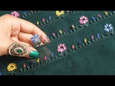 Dupatta Setting, Filet Crochet, Lace Design, Tatting, Embroidery Designs, Diy And Crafts, Youtube, Jewelry, Embroidery For Beginners