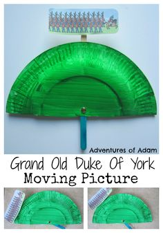 Oh, The grand old Duke of York, He had ten thousand men; He marched them up to the top of the hill, And he marched them down again.  Get the Duke of York to march his men up and down the hill with this moving pictures prop. Adventures of Adam Grand Old Duke Of York moving picture