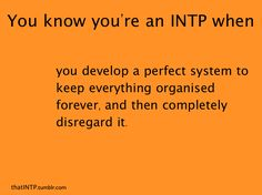 I know I'm an INTP