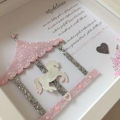 Personalised Glitter Carousel Frame