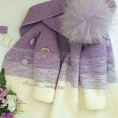 Short coat with knitting needles with description Coat with knitting needles for: months. Crochet Baby Sweaters, Crochet Coat, Crochet Baby Clothes, Knitted Coat, Crochet Cardigan, Crochet Yarn, Baby Cardigan, Baby Pullover, Knitting For Kids