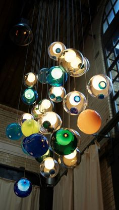 Glass Ball Chandeliers by Bocci