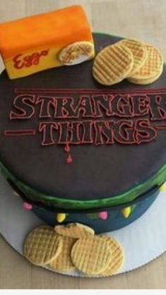 Stranger things cake I love it