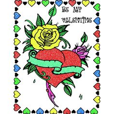 Valentines Day Coloring, Rooster, Animals, Animales, Animaux, Animal, Animais, Chicken
