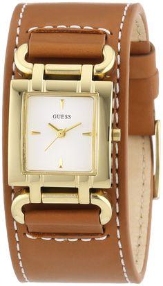 Guess Damen-Armbanduhr XS SMOOTHY Analog Quarz Leder W0153L2: Amazon.de: Uhren