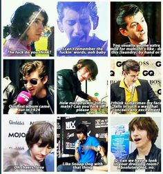 Things Alex Turner has said in interviews and other things