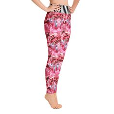 Leggings pink leggings candy land leggings pink tights pink yoga pants candy pants candy leggings equestrian fashion equestrian leggings horse leggings pink