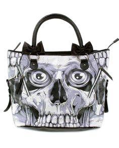 Amazon.com: Iron Fist Bone Breaker Black and White Goth Skeleton Skull Zombie Vegan Handbag Purse: Iron Fist: Clothing