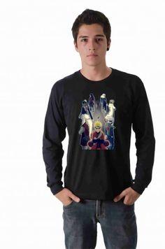 Camiseta Naruto Mestres e Alunos