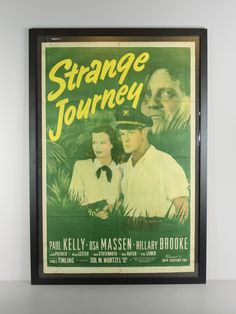 Renew Gallery | Strange Journey Vintage Movie Poster