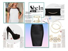 """""""<3"""" by velida-husic ❤ liked on Polyvore featuring Nly Shoes, Carvela Kurt Geiger, Ileana Makri, Stella & Dot, AX Paris and Sephora Collection"""