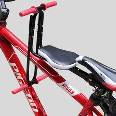 saddle red on sale at reasonable prices, buy Bike Child Seat Saddle for Bicycle Kids Electric Scooter Sit on Bike Children Seat Kid Baby Front Chair on Mountain Bike Scooter from mobile site on Aliexpress Now! Folding Bicycle, Bicycle Seats, Bicycle Sidecar, Cheap Folding Chairs, Electric Scooter For Kids, Bike Electric, Kids Saddle, Cheap Scooters, Velo Cargo