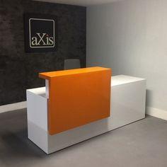 Modern white reception desk