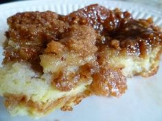 Paula Deens Baked French Toast Casserole With French Bread Large Eggs Half And Half Milk Sugar Vanilla Extract Ground Cinnamon Ground Nutmeg Salt Praline Topping Syrup Bu. What's For Breakfast, Breakfast Dishes, Breakfast Recipes, Breakfast Skillet, Breakfast Potatoes, Breakfast Muffins, Mini Muffins, Baked French Toast Casserole, Paula Deen Breakfast Casserole
