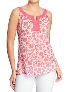 Old Navy Women's Printed Sleeveless-Gauze Tunics Cute Casual Outfits, Casual Dresses, Fashion Dresses, Kurta Designs, Blouse Designs, Vintage Red Dress, Sewing Blouses, Blouse Models, Fashion Sewing