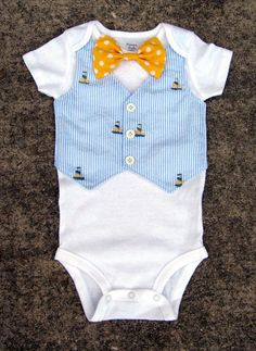 Baby Boy Easter Tuxedo Onesie or Shirt Blue by DisarrayDesigns, Toddler Outfits, Baby Boy Outfits, Kids Outfits, Baby Boy Vest, Baby Bibs, Baby Clothes Patterns, Baby Kids Clothes, Baby Boy Formal Wear, Baby Wedding Outfit