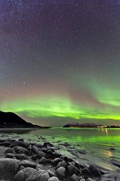 ✯ Aurora over the Beach - Sortland, Norway