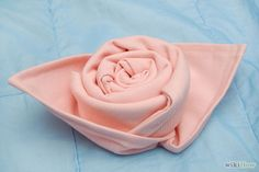 How to Make a Rose out of a Cloth Napkin: 7 Steps (with Pictures)