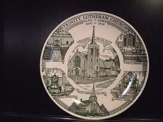 Trinity Lutheran Church Alta Iowa 1874-1974 Souvenir plate Kettle Springs Kilns