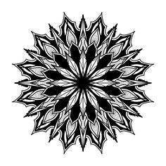 Custom Mandala #dark #mandala #dotwork #blackwork #geometry