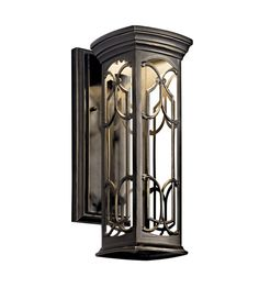 Kichler 49226OZLED Franceasi LED 15 inch Olde Bronze LED Outdoor Wall Lantern #LightingNewYork