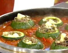 Zapallitos rellenos Caprese Salad, Meat Recipes, Green Beans, Zucchini, Blog, Pulp, Chefs, Recipe Ideas, Ideas Para