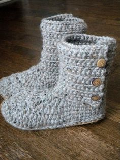Comfy and cozy! Ribbed Boot Slippers Crochet Pattern by smeckybits