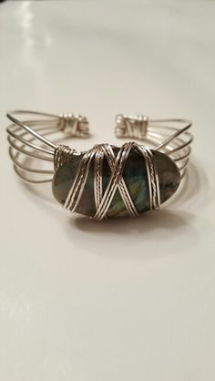 My first cuff made with 925 Sterling Silver and Labradorite. A custom order that I hope she'll love! #lgbstylesonetsy #lgbstylesonamazon