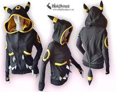 HECHO por encargo Umbreon amarillo inspirado hoodie por BlakBunni