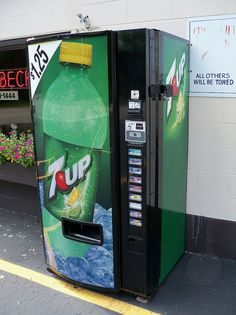 7Up Vending Machine by The Upstairs Room, via Flickr