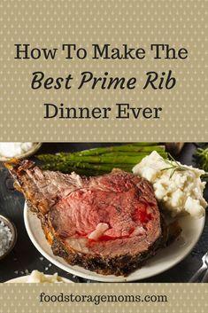 How To Make The Best Prime Rib Dinner Ever! It's really easy to cook a moist prime rib roast, I promise! Roast Gravy, Roast Chicken And Gravy, Pork Roast, Roast Brisket, Beef Tenderloin, Pork Chop Dinner, Roast Dinner, Cook Dinner, Dinner Dishes