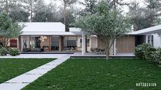 maison avec toit plat de design moderne