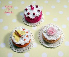 Set di 3 magneti torta cibo amigurumi crochet con di PyrosePatch
